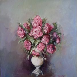 Obraz - Olejomaľba - Ruže vo váze - Igor Navrotskyi
