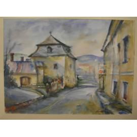 Obraz - Akvarel - Prešovská ulička - Mária Lenárdová