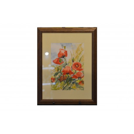 Akvarel, Maky - ručne maľovaný obraz
