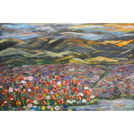Bc. Helena Vožňáková - Kvety pri západe slnka,