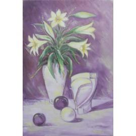 obraz - Ľalie (lila)