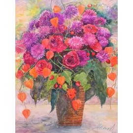 Obraz - Akvarel - Jesenné zátišie - Martina Štecová