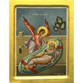 Obraz - Archanjel Gabriel - 24ct zlato