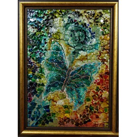 Obraz - Maľba na sklo - Motýľ - Daniela Petríková