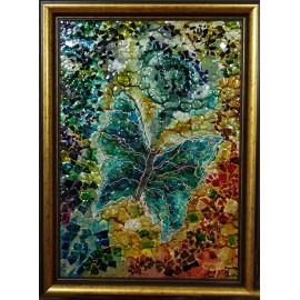 Originálny obraz-Motýľ-mozaika