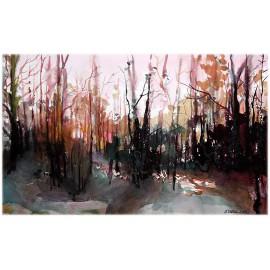 Akvarel-ručne maľovaný originál obraz-Ráno