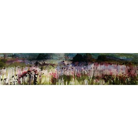 Akvarel-ručne maľovaný originál obraz- motív krajiny-Pri Karlových Varoch