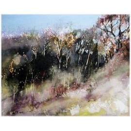 Akvarel-ručne maľovaný originál obraz-Jar