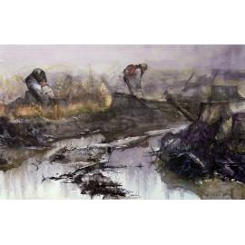 Obraz - Akvarel - Ochrana lesných kultúr - PhDr. Slavomír Čupil