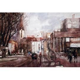 Akvarel-ručne maľovaný originál obraz - Vo Vranove