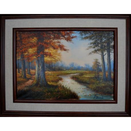 Obraz - Jeseň pri potoku