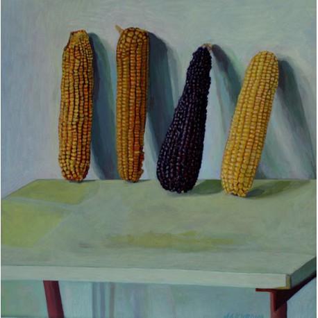 Originál obraz- Zátišie-kukurica