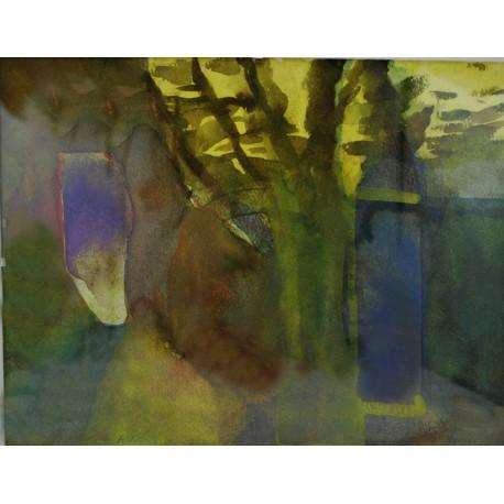 Originál obraz - akvarel -Rovnováha