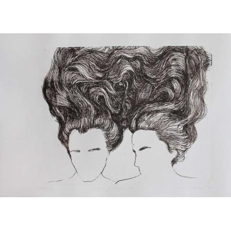 Litografia-poznám tvoju bolesť sestra