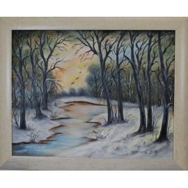 Obraz - Zima v lese 2