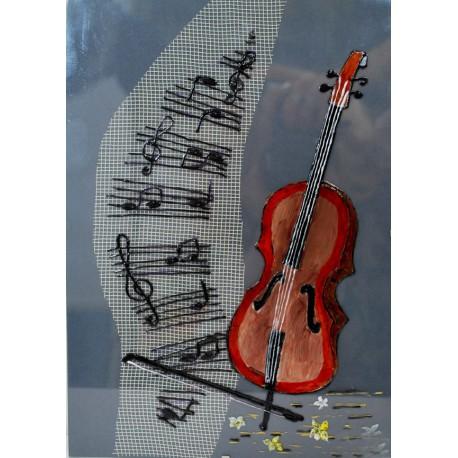 Hudba - obraz maľovaný na skle