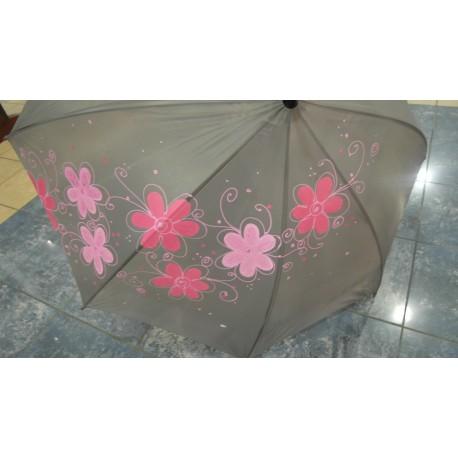 Dáždnik -tmavomodrý, ručne maľovaný ,
