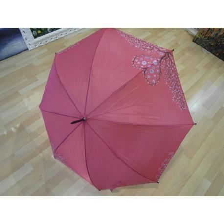 Dáždnik - ružový, ručne maľovaný