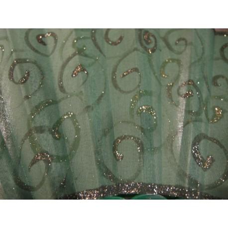 Ručne maľovaný vejár - Zelený 4.