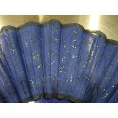 Ručne maľovaný vejár - Modrý 5.
