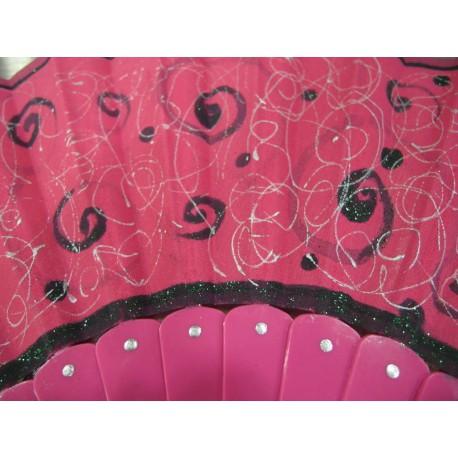 Ručne maľovaný vejár - ružový