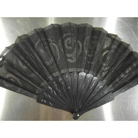 Ručne maľovaný vejár - čierný