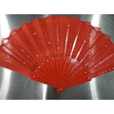 Ručne maľovaný vejár - červený