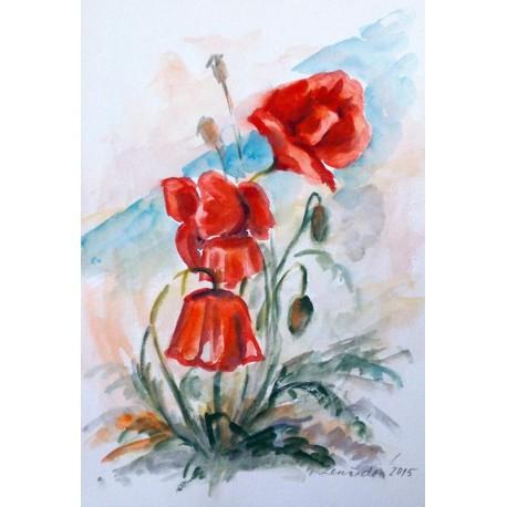 Ručne maľovaný obraz - Maky 2