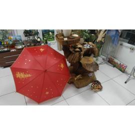 Dáždnik - ručne maľovaný, handmade, červený
