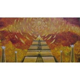 Obraz - Akryl na plátne - Chrám svetla - Radoslav Jurko