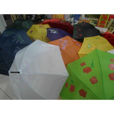 Dáždnik skladací - ručne maľovaný, handmade, červený