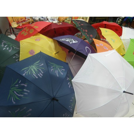 Dáždnik skladací -ručne maľovaný ,handmade, čierný