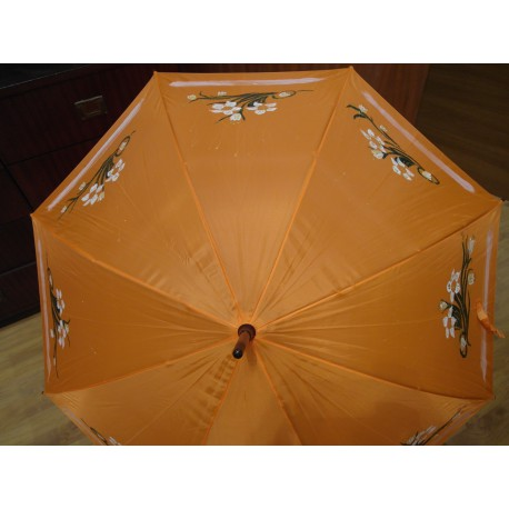 Dáždnik -ručne maľovaný, handmade, oranžový