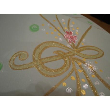 Dáždnik - ručne maľovaný, handmade, svetlozelený