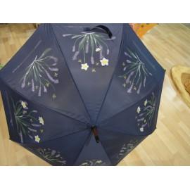 Dáždnik - ručne maľovaný ,handmade, tmavomodrý
