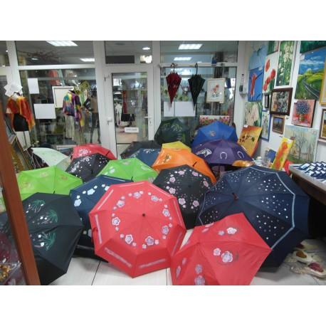 Dáždnik - ručne maľovaný ,handmade, tmavofialový