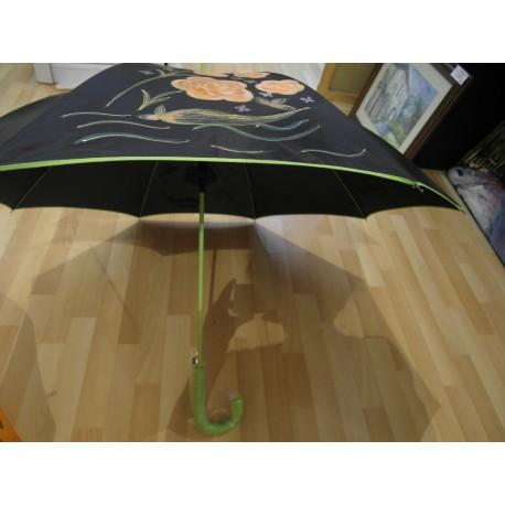 Dáždnik - ručne maľovaný - handmade, čierný