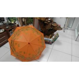 Dáždnik - ručne maľovaný , handmade, oranžový