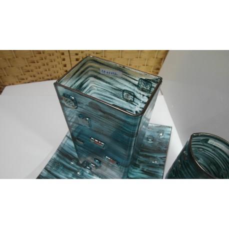 Sklo- misa, sklenená váza - ručná práca