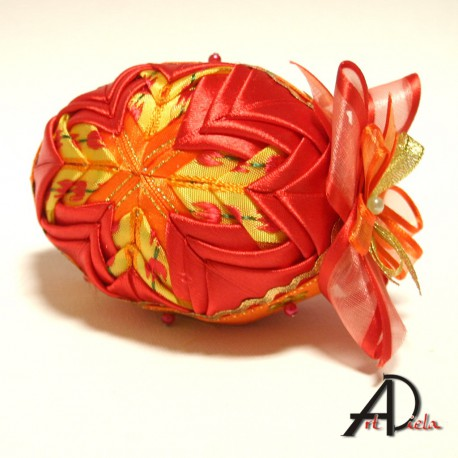 Veľkonočné textílne vajíčko -stredné - Patchwork