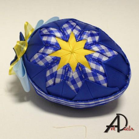 Veľkonočné textílne vajíčko- stredné - Patchwork