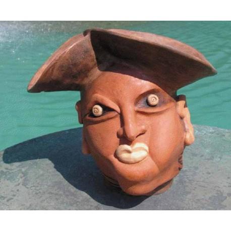 Keramický črepník-Pirát