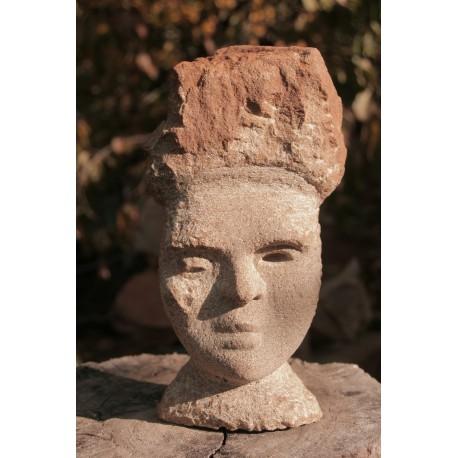 Originálna kamenná socha- tvár- busta
