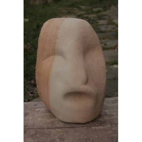 Orginálna Kamenná socha - Tvár