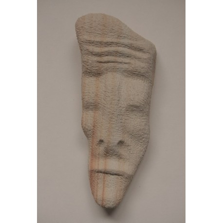 Kamenná soška - Tvár -visiaca, ležiaca