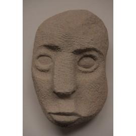 Originálna Kamenná soška - Tvár-zeolit-visiaca, ležiaca