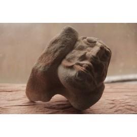 Kamenná soška - Tvár-zeolit-originál