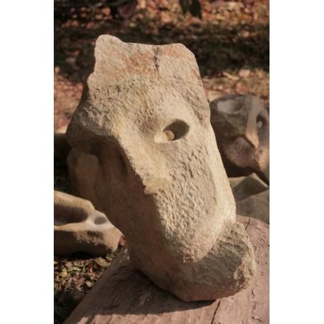 Originálna kamenná socha - Maska