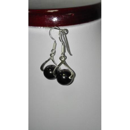 Jadeit - achát - smaltovaný kov - náhrdelník,náušnice