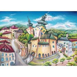 Obraz - Akryl na plátne - Banská Bystrica - Mgr. Lucia Chocholáčková
